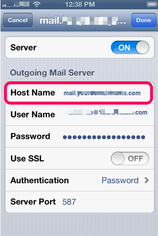 incoming mail server iphone incoming and outgoing mail server change iphone 1034